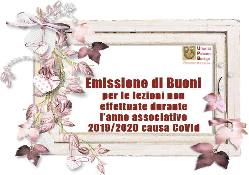 Università Popolare F. Petrarca di Borbiago - Mira (VE) - Buoni Covid 2019/2020 - caratteristiche