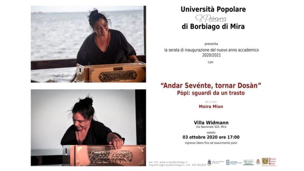 Università Popolare F. Petrarca di Borbiago - Mira (VE) - 03/10/2020 Inaugurazione anno associativo con Moira Mion