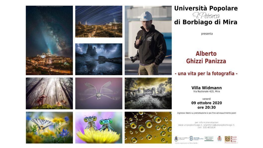 Università Popolare F. Petrarca di Borbiago - Mira (VE) - 09/10/2020 Incontri con il fotografo Alberto Ghizzi Panizza