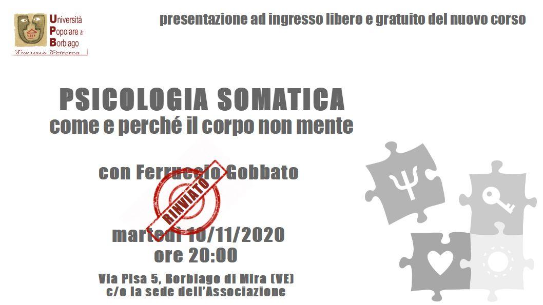 Università Popolare F. Petrarca di Borbiago - Mira (VE) - Psicologia Somatica Presentazione del corso