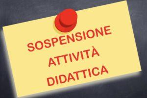 sospensione attività didattica