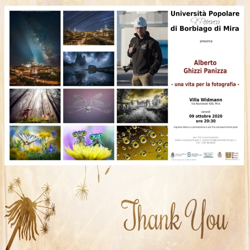 Università Popolare F. Petrarca di Borbiago - Mira (VE) - Incontri con il fotografo 2020/2021: Alberto Ghizzi Panizza
