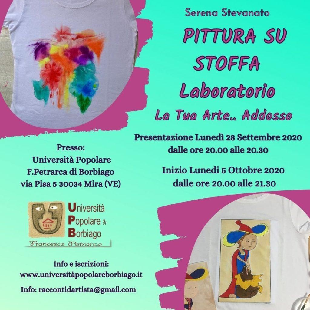 Università Popolare F. Petrarca di Borbiago - Mira (VE) - Presentazione del corso Pittura su stoffa
