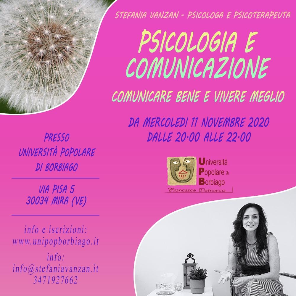 Università Popolare F. Petrarca di Borbiago - Mira (VE) - Presentazione del corso Psicologia e Comunicazione con Stefania Vanzan