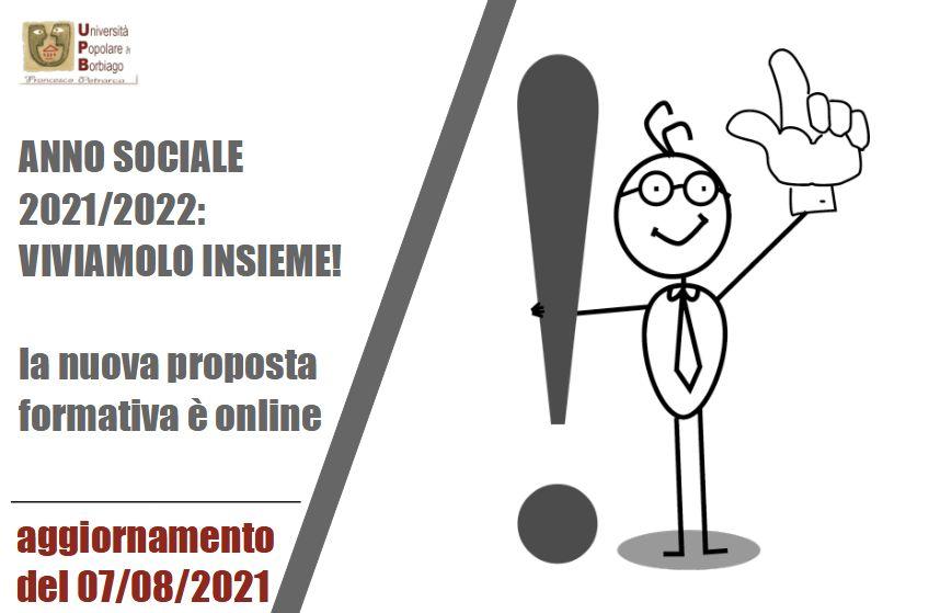 Università Popolare F. Petrarca di Borbiago - Mira, Anno Sociale 2021/2022, la nuova proposta formativa