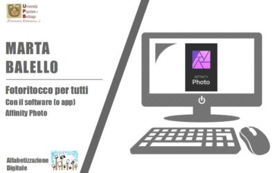 FOTORITOCCO PER TUTTI con il software o app Affinity Photo