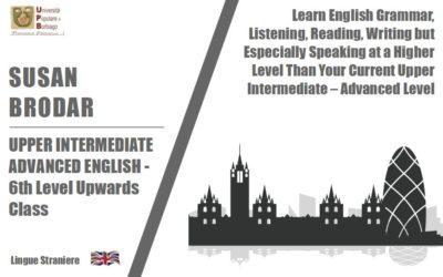 UPPER INTERMEDIATE – ADVANCED ENGLISH – 6th Level Upwards Class